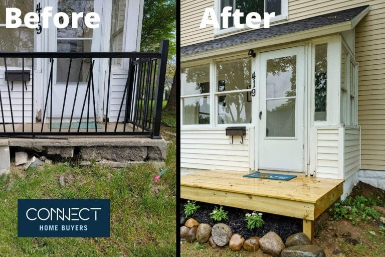We Buy Houses Before and After
